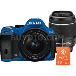 K-50 Weatherproof DSLR Bundle with 18-55mm And 50-200 WR Lenses Plus