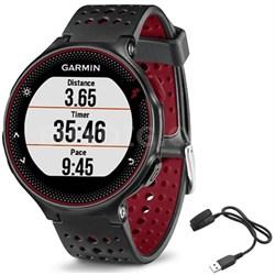 Forerunner 235 GPS Sport Watch - Marsala - Charging Clip Bundle
