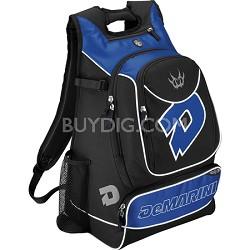 Vexxum Backpack Baseball Gear Bag - Black/Royal Blue