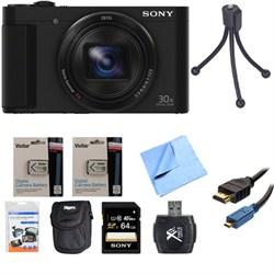 Cyber-Shot DSC-HX90V Digital Camera 3-Inch LCD Screen Black 64GB Deluxe Bundle