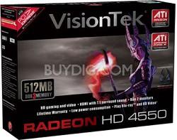 RADEON 4550 PCIE 512MB DDR2 DVI DMS59 SFF B2 RETAIL