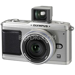 E-P1 Micro Four Thirds SLR Camera with 17mm Lens (Silver)