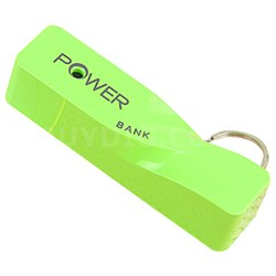 2600mAh Portable Keychain Power Bank - Green