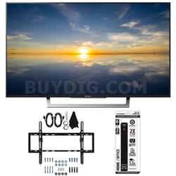 """XBR-49X800D - 49"""" Class 4K HDR Ultra HD TV w/ Flat Tilt Wall Mount Bundle"""