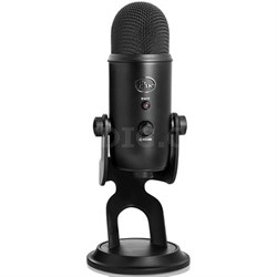 Yeti Professional USB Desk Microphone (Blackout) - BLACKOUTYETI