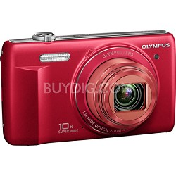 VR-340 16MP 10x Opt Zoom 3-inch LCD Digital Camera - Red