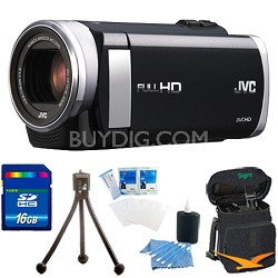 "GZ-E200BUS - HD Everio Camcorder f1.8 40x Zoom 3.0"" Touchscreen 16GB Memory Kit"