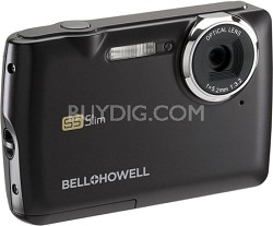 S5 Slim 12.2 MP Black Digital Camera w/ 5X Zoom, 2.7 Inch LCD