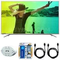 "Aquos N7000 60"" Class 4K Ultra WiFi Smart LED HDTV w/ Hook up Bundle"
