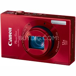 PowerShot ELPH 520 HS Red 10.1 MP CMOS Digital Camera 12x Optical Zoom