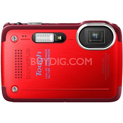 STYLUS TG-630 12MP 3-inch LCD 1080p HD Digital Camera - Red