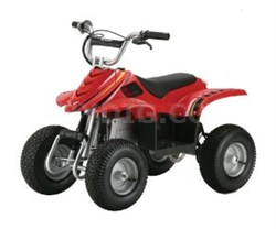 Dirt Quad Electric Four-Wheeled Off-Road Vehicle (Red) - OPEN BOX