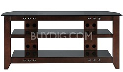"NFV249 - Natural Three Shelf A/V Stand for TVs up to 52"" (Mocha Finish)"