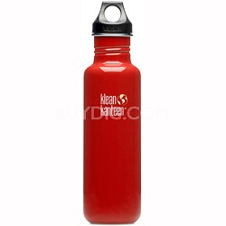 K27PPL-IR - 27oz Kanteen Classic (w/loop cap) - Indicator Red