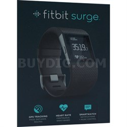"Surge Fitness Superwatch, Black, Large (6.3-7.8"") - OPEN BOX"