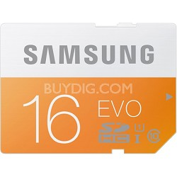 EVO 16GB SDHC Secure Digital Memory Card - Class 10