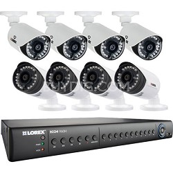ECO4 16 Channel Series 2TB Security DVR with 8 960H Cameras