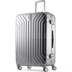 "Tru-Frame Hard Shell Matte Silver 28"" Spinner Suitcase"
