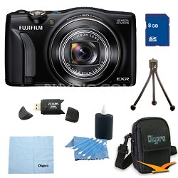 FinePix F770EXR 16MP EXR CMOS Digital Camera 8 GB Bundle (Black)