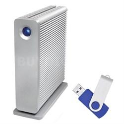 d2 Quadra v3 USB 3.0 7200RPM 4 TB External Hard Drive with Flash Transfer Kit