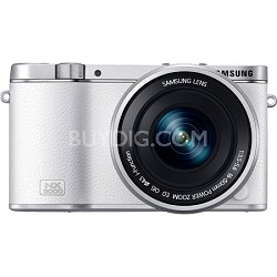 NX3000 20.3MP White Smart Compact System Camera with 16-50mm OIS Power Zoom Lens