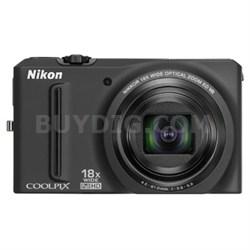 COOLPIX S9100 12MP Digital Camera with 18x Optical Zoom (Black) Refurbished