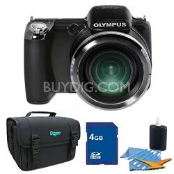 SP-810UZ 14 MP 36x Zoom Digital Camera 4 GB Bundle