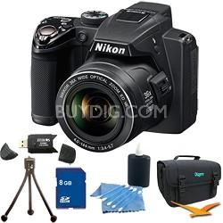 Coolpix P500 12MP Black Digital Camera 8GB Bundle