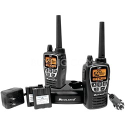 50-Channel GMRS Radio Pair Pack, Drop-In Charger, Batteries, Headsets GXT2000VP4