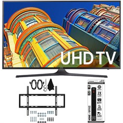 UN55KU6300 - 55-Inch Smart 4K UHD HDR LED TV w/ Slim Wall Mount Bundle