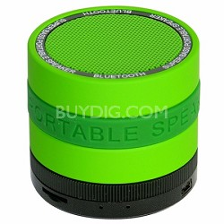Portable Bluetooth Speaker with 8 Customizable Color Bands - Green Speaker