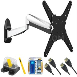 "Large Interactive Full Motion TV Mount & Set Up Kit for 32""-55"" TVs up to 66LB"