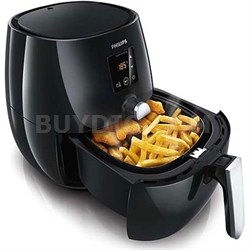 Digital AirFryer with Rapid Air Technology, Black - USED