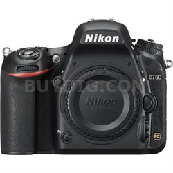 D750 DSLR 24.3MP HD 1080p FX-Format Digital SLR Camera (Body Only) Refurbished