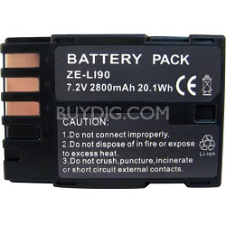 LI-90 2800mAh Replacement Lithium Battery for Pentax K7