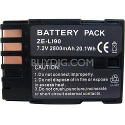 LI-90 2800mAh Replacement Lithium Battery for Pentax K7