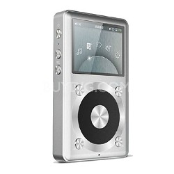 X1 Portable High Resolution LossLess Silver Music Player - 128 GB