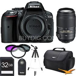 D5300 DX-Format 24.2 MP DSLR (Black) 55-300mm VR Pro Lens and Memory Bundle