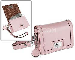 Fashion Camera Clutch - Baby Pink, Faux Leather