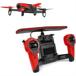 BeBop Drone 14MP Full HD 1080p Fisheye Camera SkyController Bundle (Red)