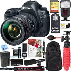 EOS 5D Mark IV DSLR Camera + EF 24-105mm IS II USM Lens 64GB Accessory Kit