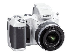 1 V2 14.2 MP HD Digital Camera with 10-30mm VR 1 NIKKOR Lens (White)