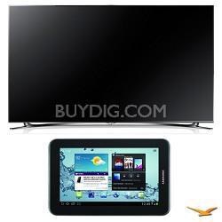 "UN55F8000 55"" 1080p 240hz 3D LED Smart HDTV and Galaxy Tab 2 Bundle"