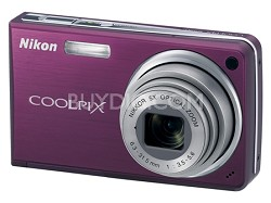 Coolpix S550 10MP 5x Zoom Digital Camera (Plum)