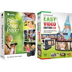 Paint Shop Pro X7 w/ Honestech Video Editor (May be in Printer or Camera Box)