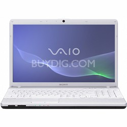 VAIO VPCEH24FX - 15.5 Inch Laptop Core i3-2330M Processor (White)