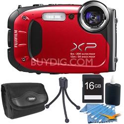 FinePix XP60 16 MP Waterproof Shockproof Freezeproof Digital Camera Red Kit