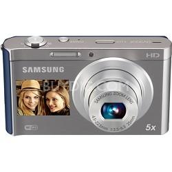 DV300F 16 MP 5X Wi-Fi Dual View  Digital Camera - Silver/Blue