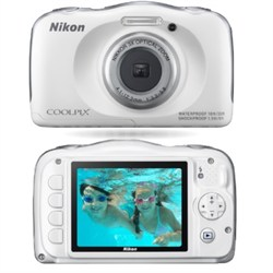 COOLPIX S33 13.2MP Water Shock Freezeproof Digital Camera (White) Refurbished