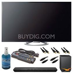 "KDL-55W802A 55"" Motionflow XR 480 LED 3D Internet HDTV and Sound Bar Bundle"